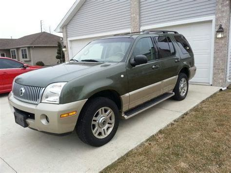 automobile air conditioning repair 2004 mercury mountaineer security system sell used 2004 mercury mountaineer awd 4x4 premier suv loaded nice and clean in bourbonnais