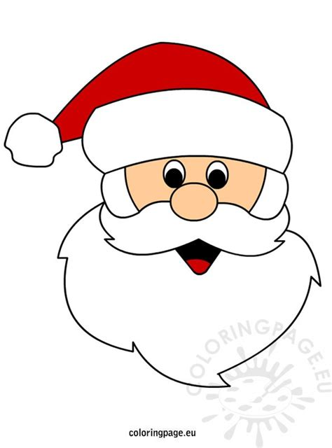 santa claus mask outline new calendar template site