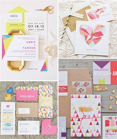 stationery design trends pretty paperie the top 10 wedding stationery trends for 2016 onefabday
