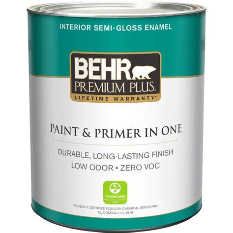 behr paint colors zero voc behr premium plus 1 qt ultra white semi gloss enamel