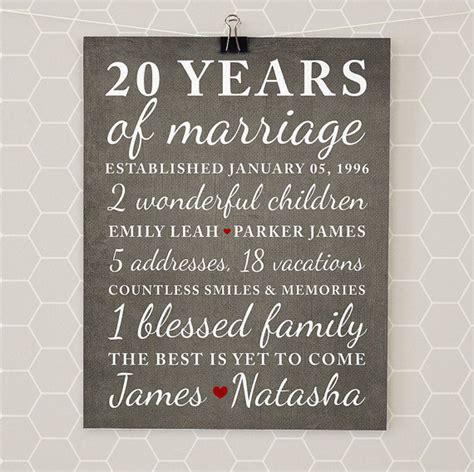 20th Wedding Anniversary Ideas by Anniversary Gifts For 20th Anniversary 20 Year Anniversary