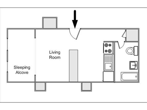 garage apartment plans with kitchen new york alcove studio apartment apartment layout ny