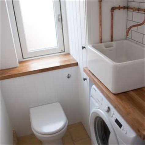 toilet with washing sink concealed cistern belfast sink and tongue and groove on
