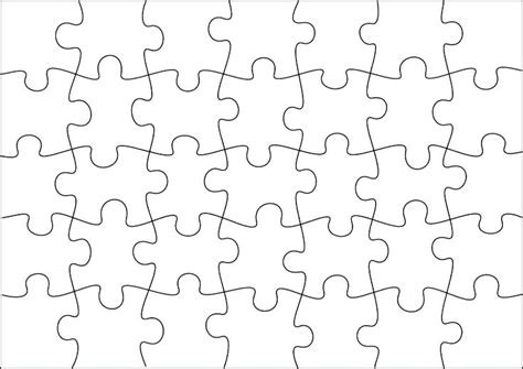6 Piece Jigsaw Puzzle Template Tangledbeard 6 Jigsaw Puzzle Template