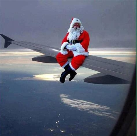 christmas santa claus airplane aviation fun