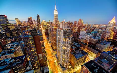 manhattan night in new york city 4k wallpapers new york city manhattan skyscrapers wallpaper