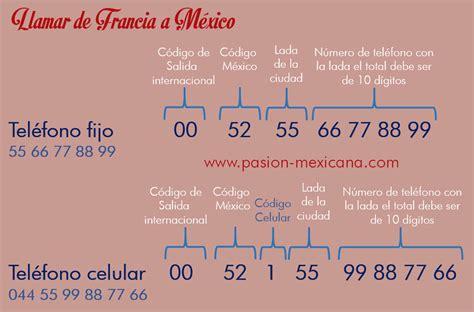 codigo para llamar a un celular en mexico c 243 mo llamar de francia a m 233 xico y viceversa pasion
