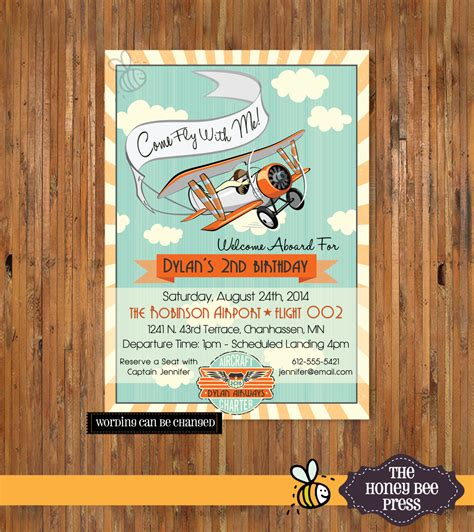 Come With Me Birthday Invite by Airplane Birthday Invitation Come Fly With Me By