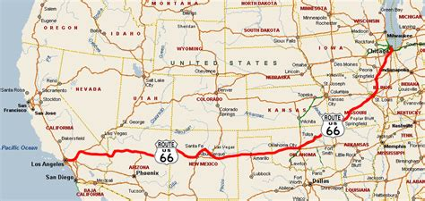 Route 66 Map Usa by 10 Must Drive Classic Roadways For Your Classic Car