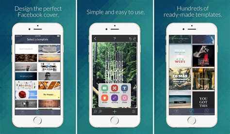 Best Facebook Cover Creator Iphone Ipad Apps For Creative Fb Covers Phone Template Maker