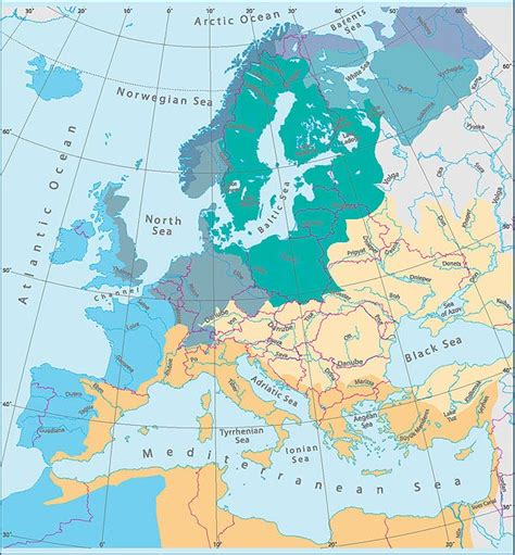map of europe seas implementation of eu coastal and marine policy european