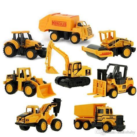 Diecast Truck Construction wholesale diecast metal plastic mini construction vehicle