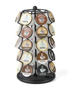 K 35 Carousel Cup Coffee Cups Keurig Storage Holder Organizer Black New Chrome   eBay