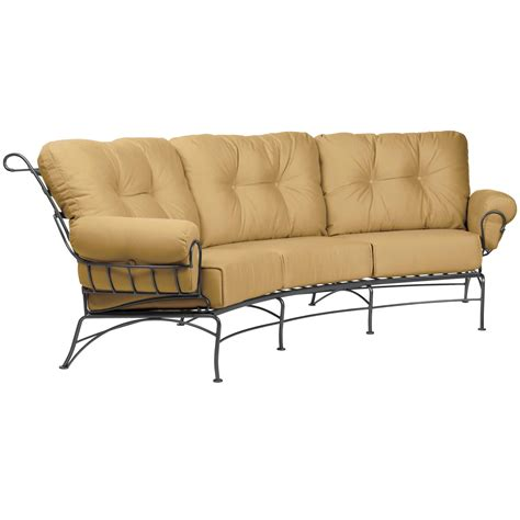 crescent sofa pictured is the terrace crescent sofa from woodard outdoor