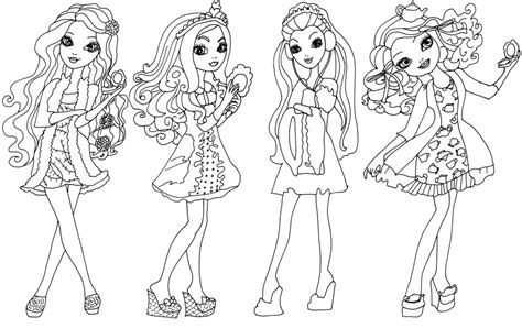 coloring pages ever after high raven queen free printable ever after high coloring pages getting