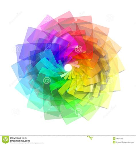 3d color 3d color spiral royalty free stock photo image 34231555