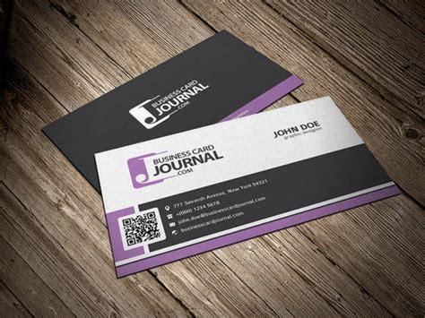 qr code business card template psd 40 best free psd business card templates webprecis