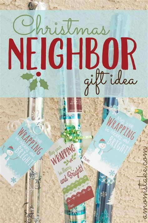 wrapping paper neighbor gift printable  moms