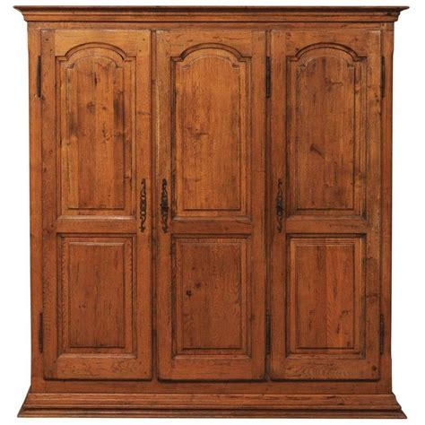 ornate armoire french natural wood armoire wardrobe cabinet with three