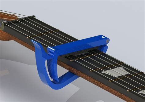 Capo Gitar Plastik guitar plastic capo 3d model 3d printable max 3ds ige