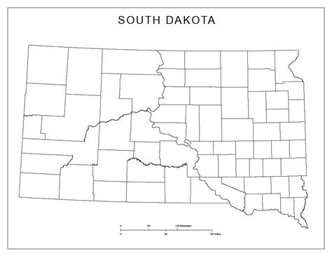south dakota county map south dakota blank map