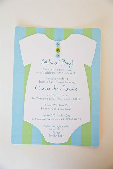 Baby Shower Invites For by Onesie Baby Shower Invitation Wblqual