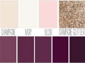 blush plum ivory chagne sparkle wedding color
