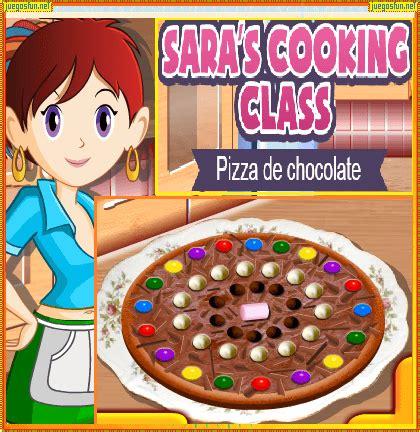 juegos de cocina con sara pizza cocina con sara pizza de chocolate juegosfun net