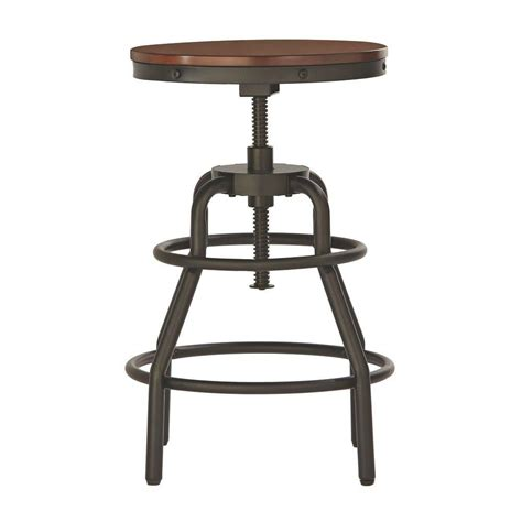 home decorators bar stools home decorators collection industrial mansard adjustable