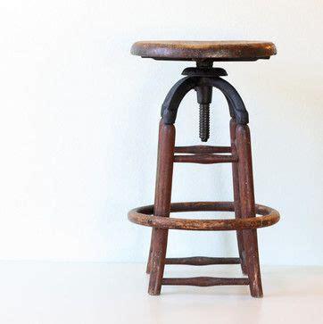 industrial wooden kitchen stools vintage industrial wooden stool by bellalulu vintage