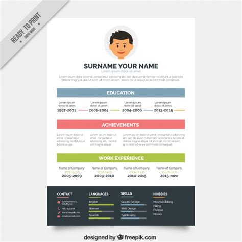 Sjabloon Cv Kleur Simple Cv Sjabloon In Kleur Vector Gratis