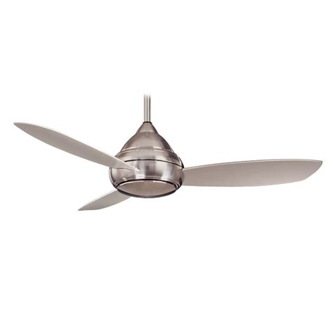 brushed nickel outdoor ceiling fan with light concept i wet outdoor ceiling fan by minka aire fans
