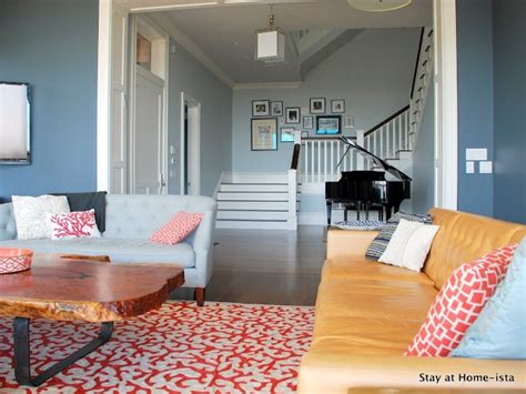 baby blue living room baby blue and coral hued living room dream house pinterest