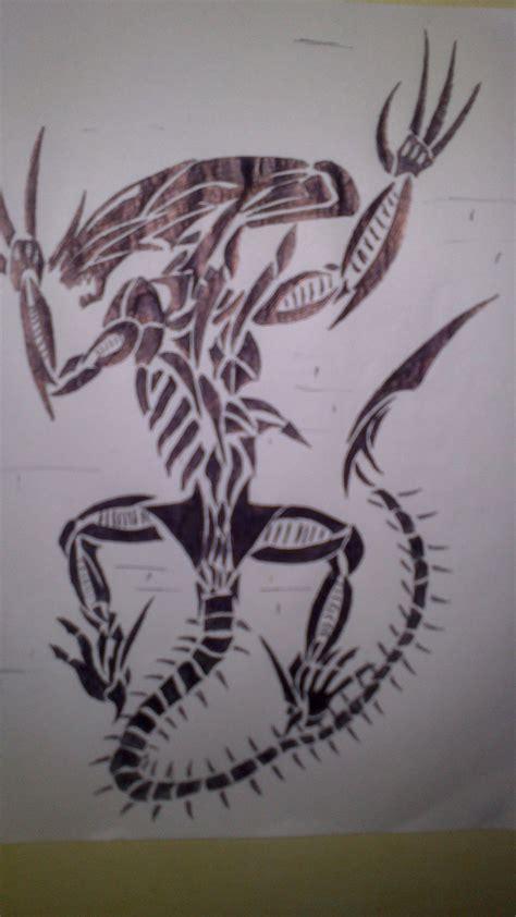 tribal xenomorph tattoo xenomorph tribal by 12097596 on deviantart
