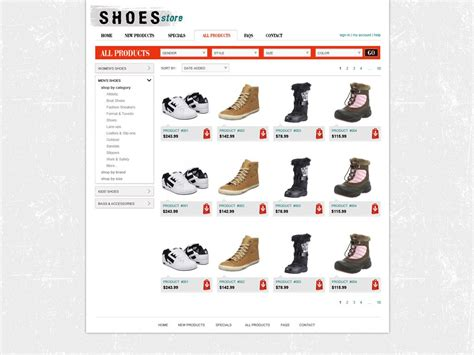 shop templates free shopping cart website template store