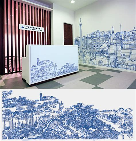 The Office Mural by 21 Incredibly Cool Design Office Murals Creative Bloq