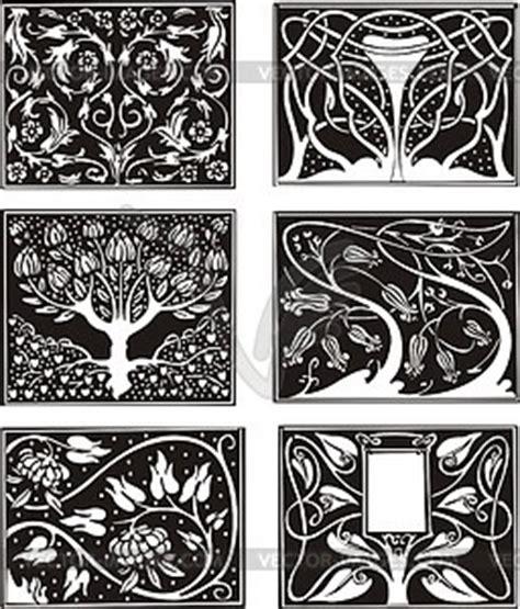 Muster Jugendstil Florale Muster Im Jugendstil Vector Clipart Vektorgrafik
