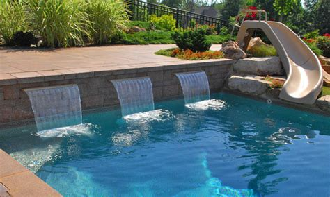 backyard pool store pool scapes and standard sheeting waterfalls hot tub and