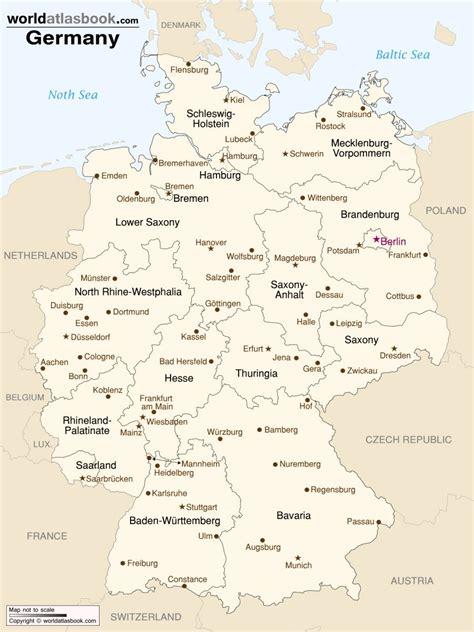 map of germany and cities οι καλύτερες πόλεις για σπουδές στη γερμανία frapress