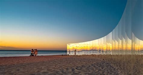 designboom sculpture by the sea this sculpture by the sea isolates viewers on a faux