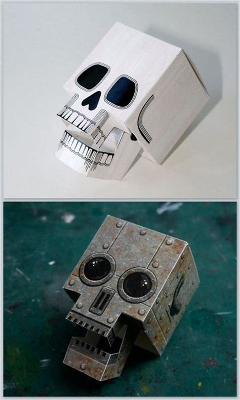 Paper Craft Skull - free pdf downloads diy papercraft skull with articulated