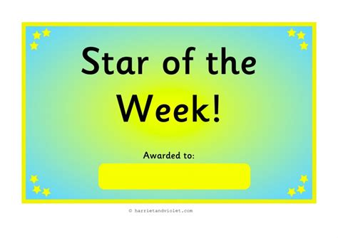 printable star of the week form free teaching resources eyfs ks1 ks2 primary teachers
