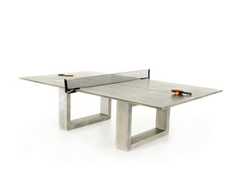 handmade concrete ping pong dining table for andre agassi
