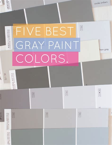 gray paint swatches alice and lois5 best gray paint colors
