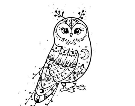 imagenes invierno para pintar dibujo de lechuza de invierno para colorear dibujos net