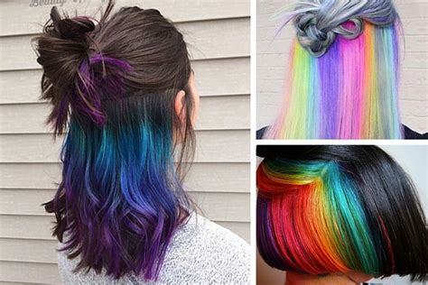 la hair return date 2016 underlights la coloration tendance de 2016