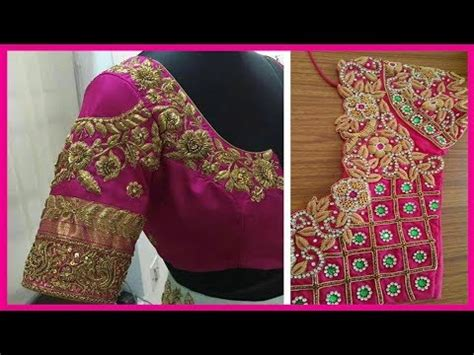 Simple Blouse 5916 maggam work blouse designs in 2017 maggam work blouse designs