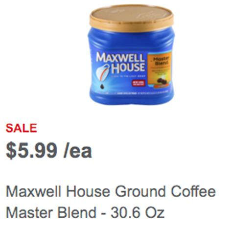 maxwell house coffee on sale 1 1 maxwell house coffee meijer sale deal