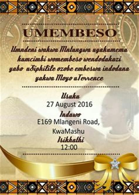 Zulu Wedding Quotes by Umembeso Wedding Invite Search Wedding Gown