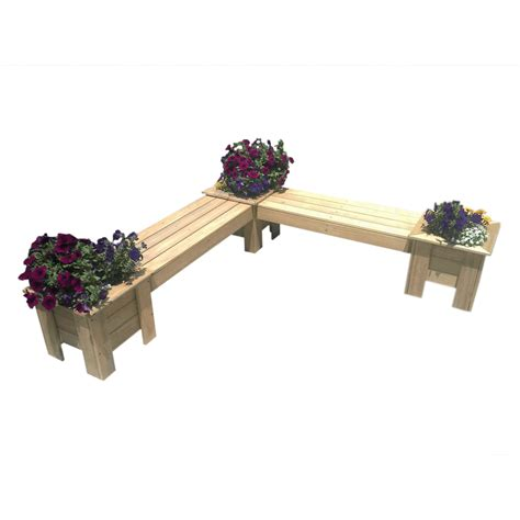 Corner Planter Boxes by L Shape Corner Planter Boxes Seat Combo Breswa Outdoor